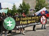 Banska Bystrica Governor Kotleba's LSNS party protesting against gays in 2011 (c) The Daily.SK